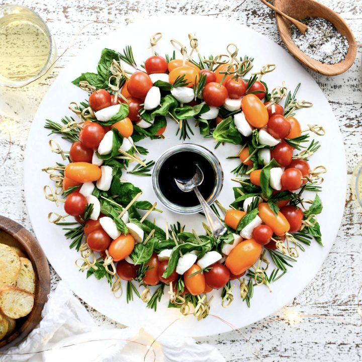 Holiday Caprese Wreath