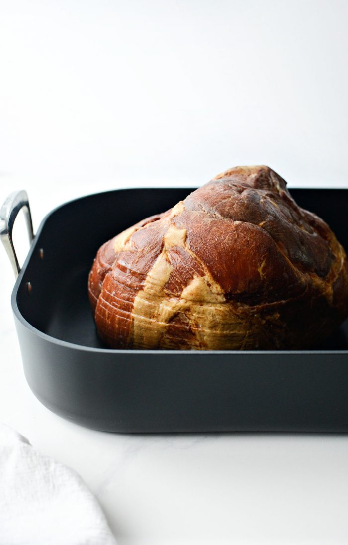 ham in roasting pan