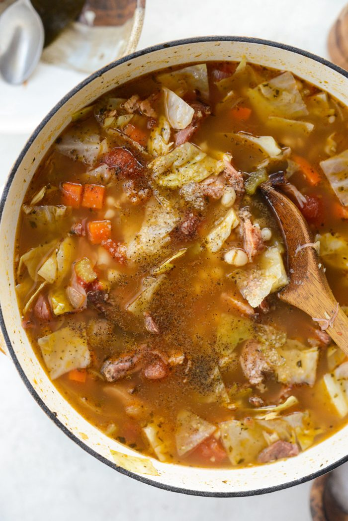 season soup with salt and pepper to taste.