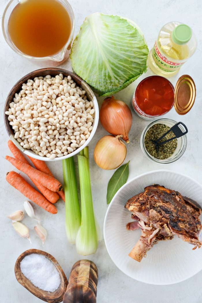 Rustic Ham and Bean Soup ingredients