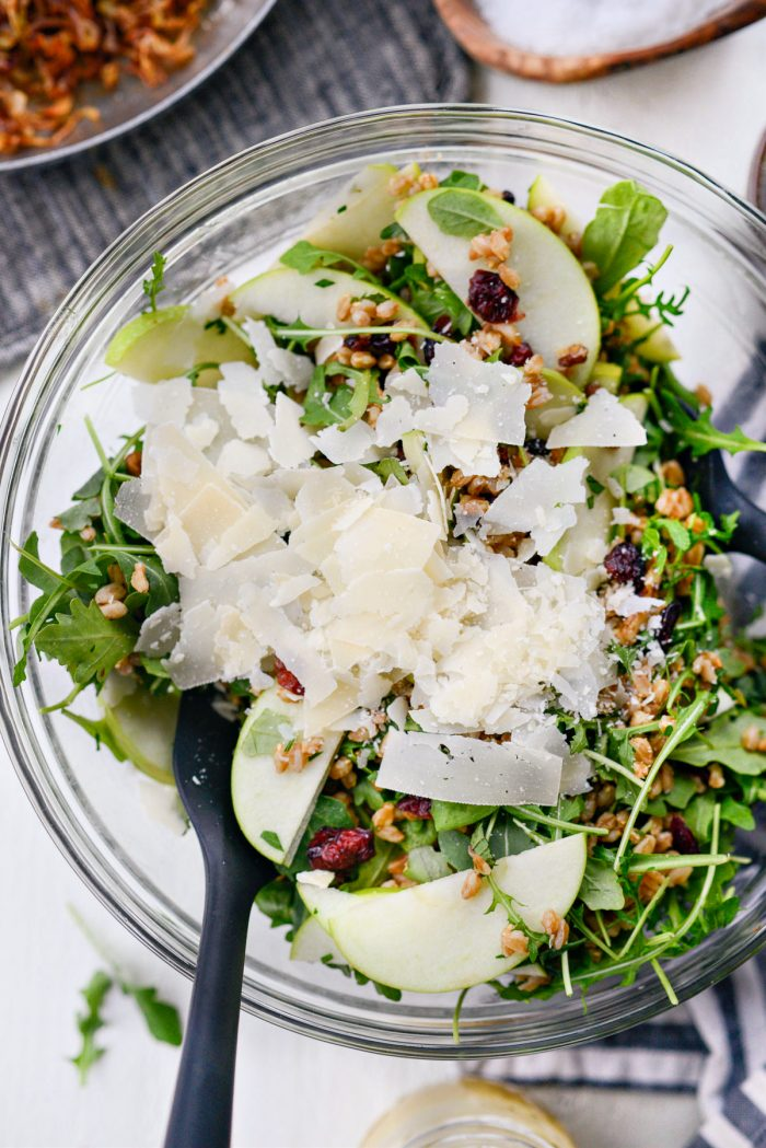 parm shavings added to salad.