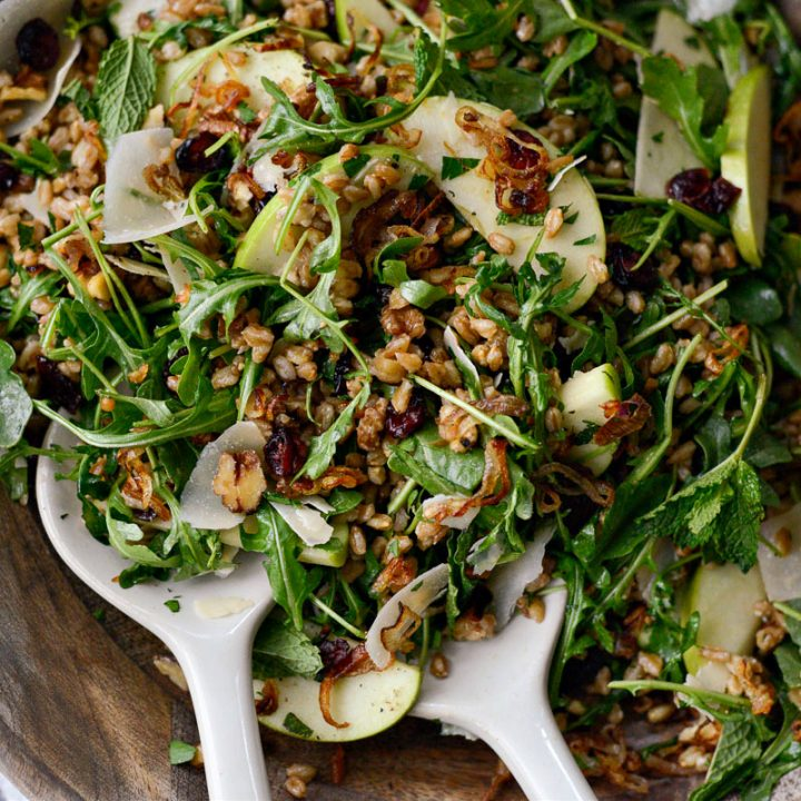 Winter Farro Salad with Fried Shallots