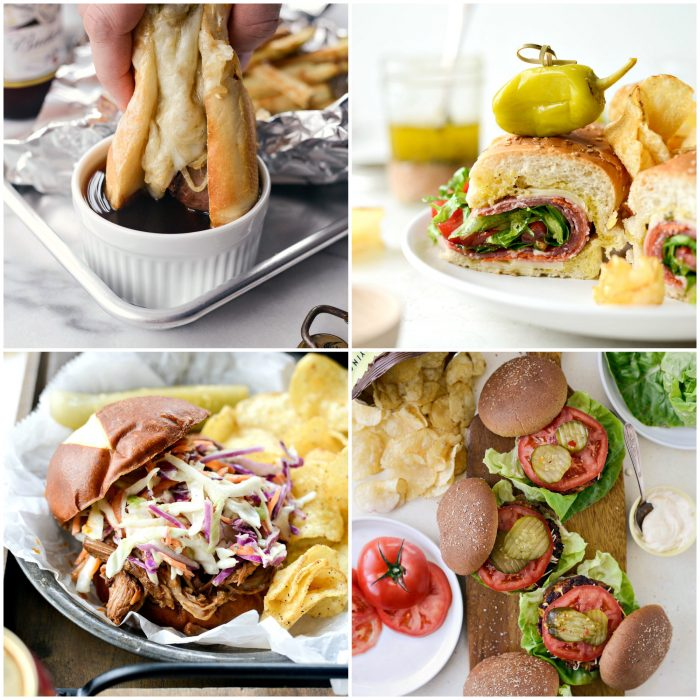 burgers, sliders and sandwichs in perfect game day recipes