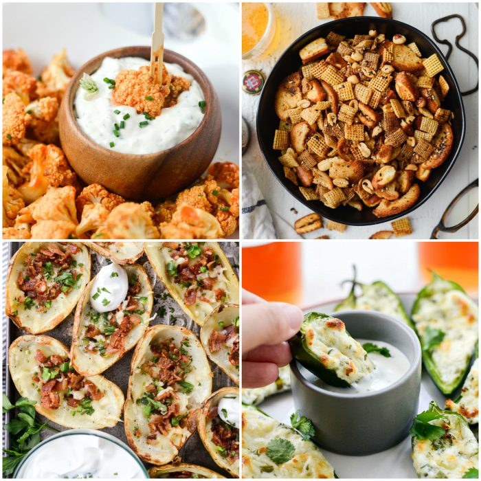 appetizer collage in perfect game day recipes