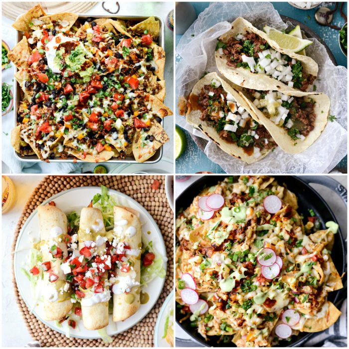 Tacos, nachos and taquitos in perfect game day recipes