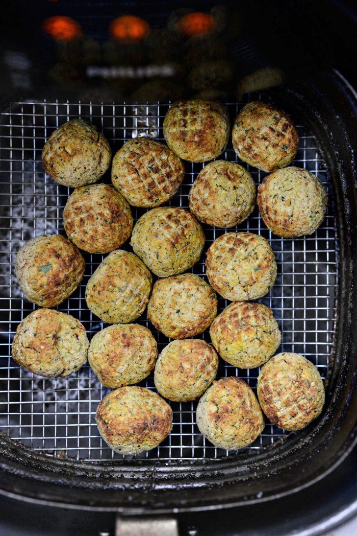 browned and fully cooked falafel