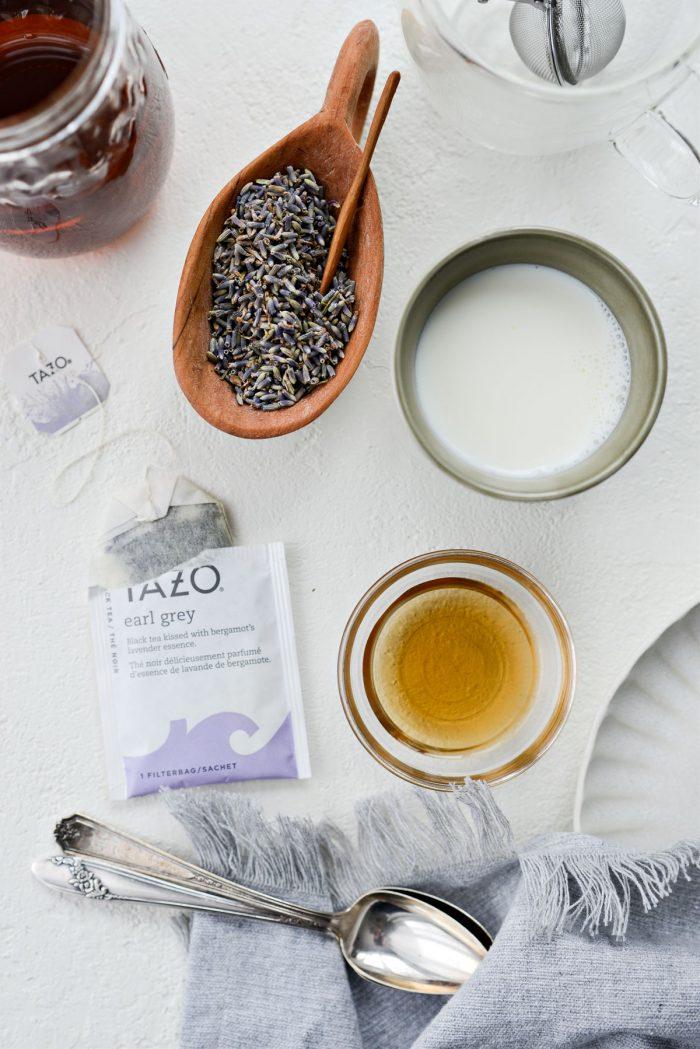 London Fog Tea Latte ingredients