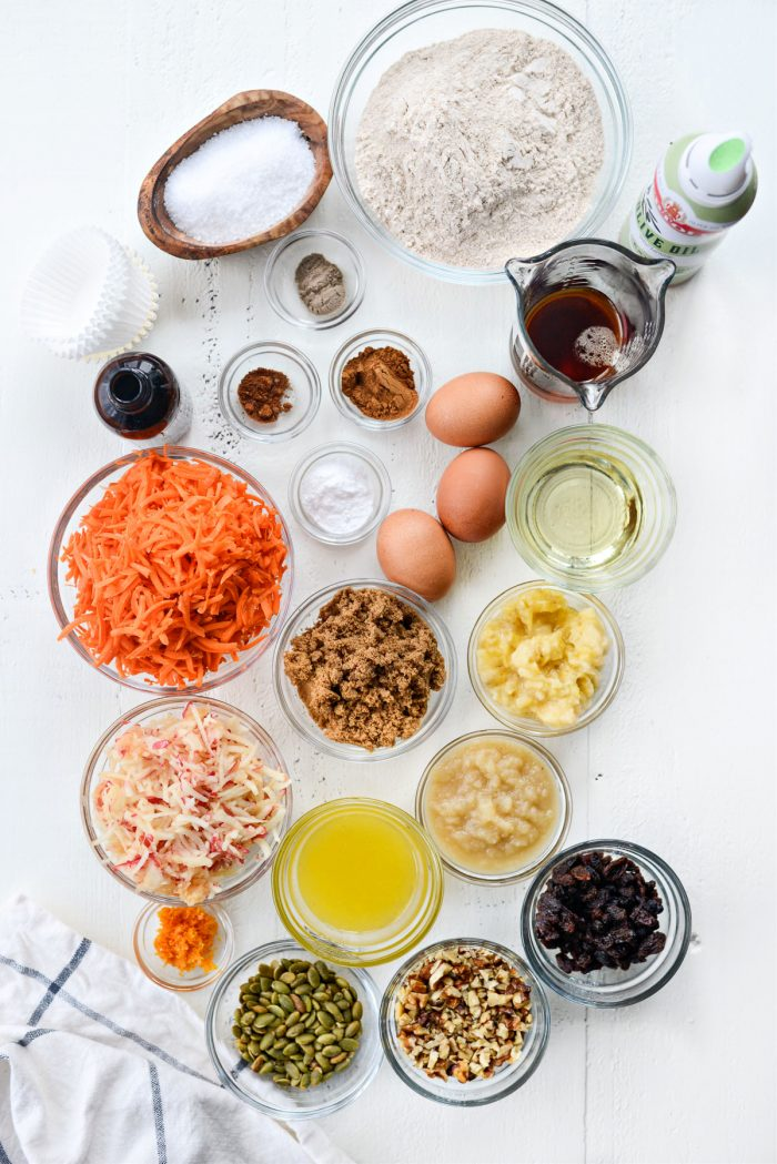 Morning Glory Muffins ingredients