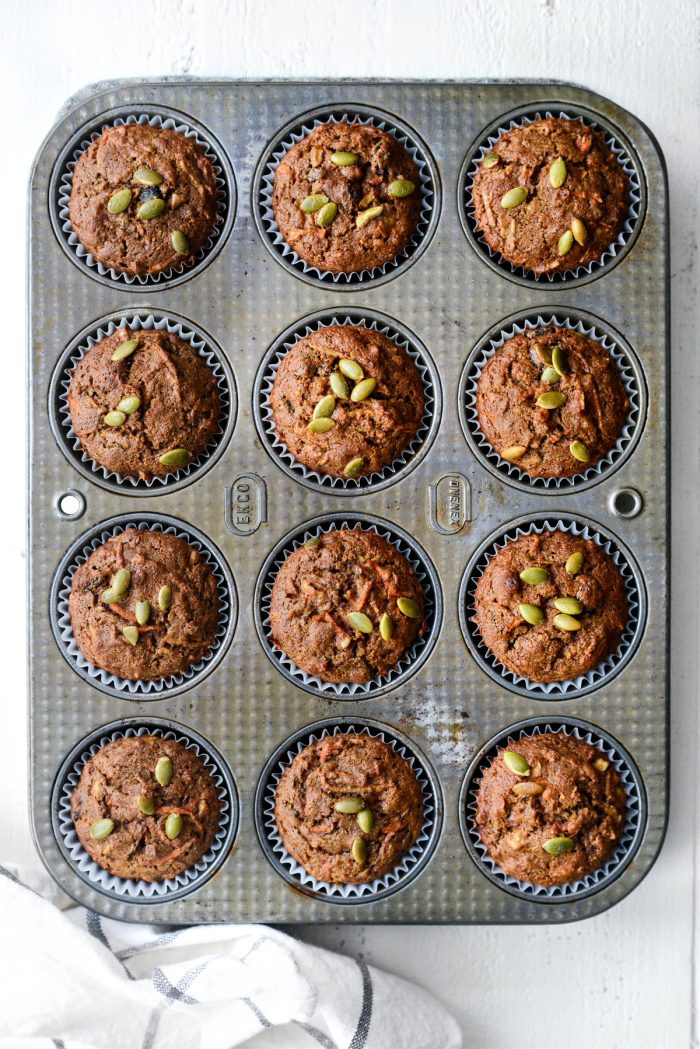 just baked Morning Glory Muffins