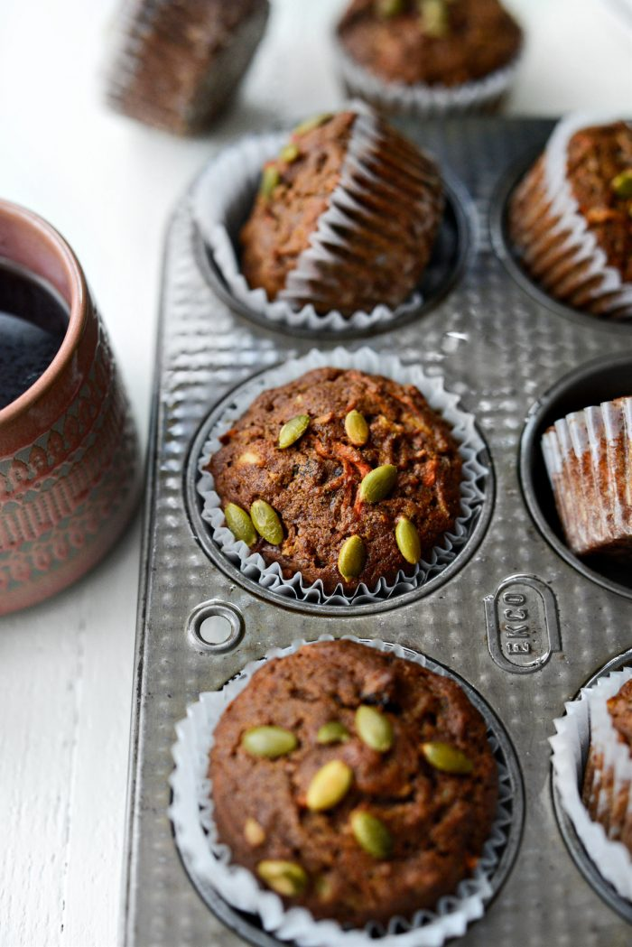Morning Glory Muffins with pepitas