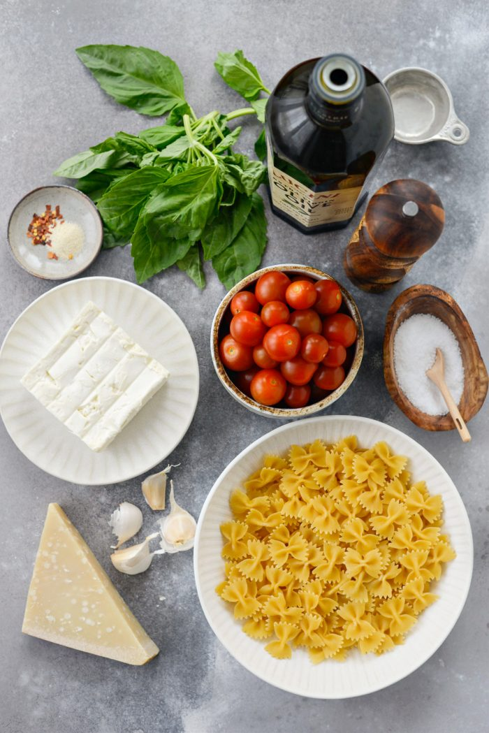 Baked Feta Pasta with Burst Cherry Tomatoes ingredients