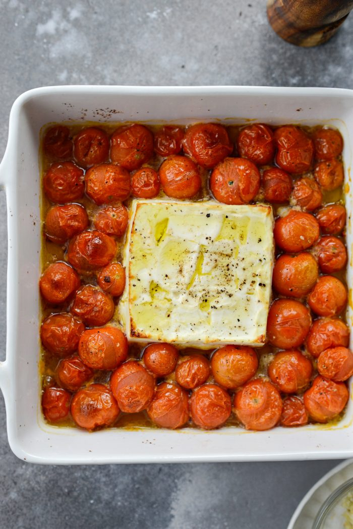 baked feta and tomatoes