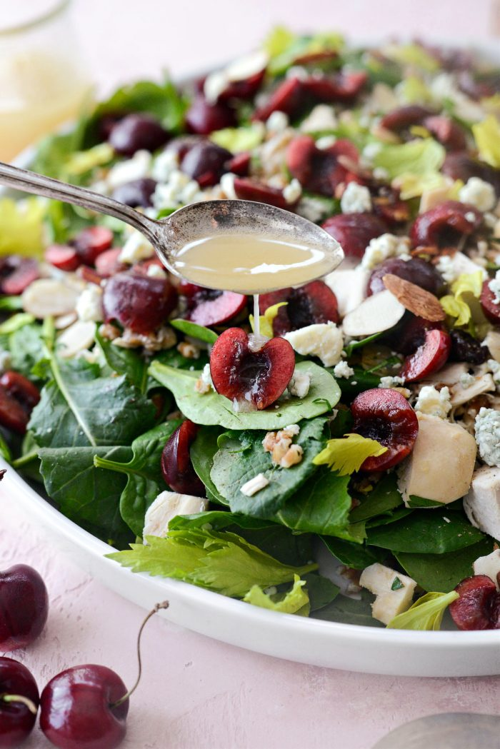 drizzle salad with dressing