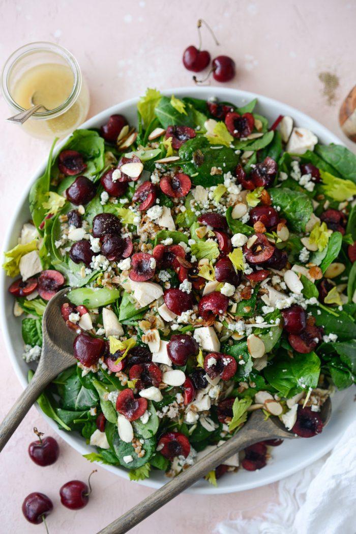 platter of Cherry Winter Wheat Berry Salad