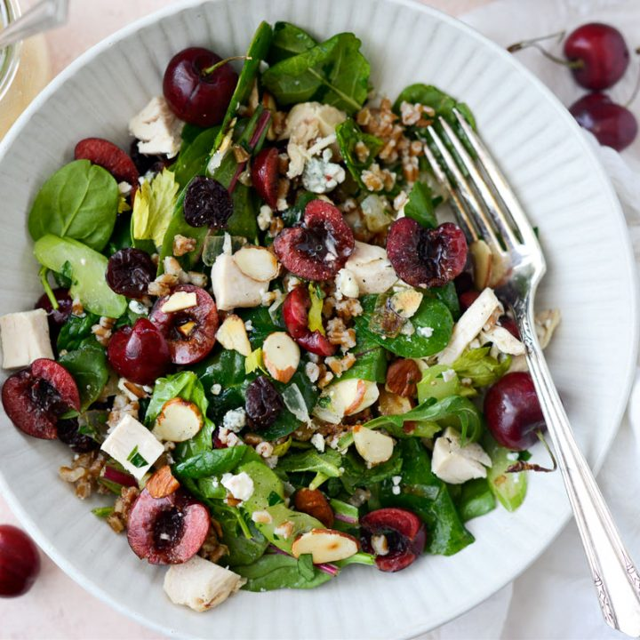 Cherry Winter Wheat Berry Salad