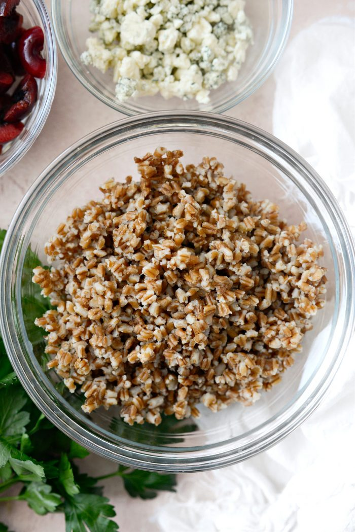 cooked red winter wheat berries