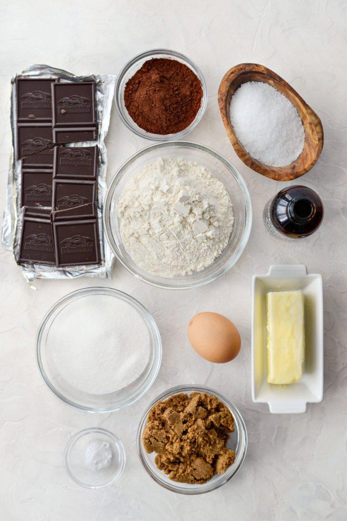 Dark Chocolate Share Cookie ingredients.