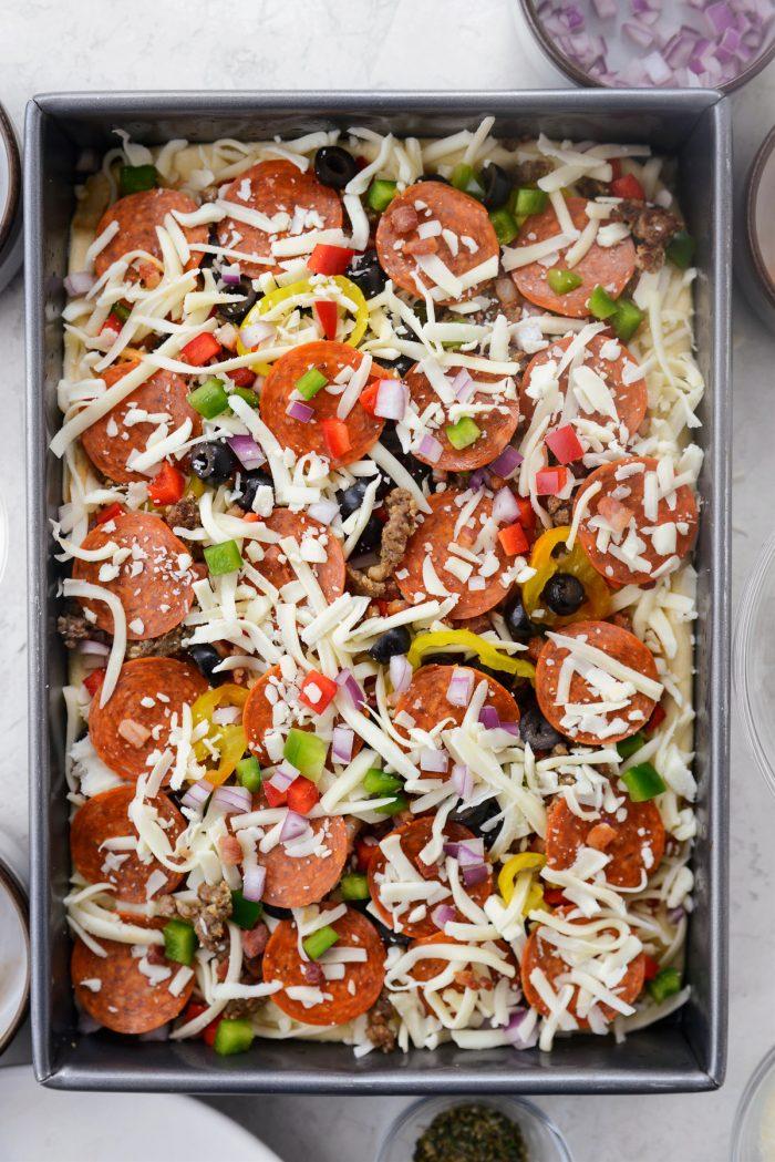 arrange toppings