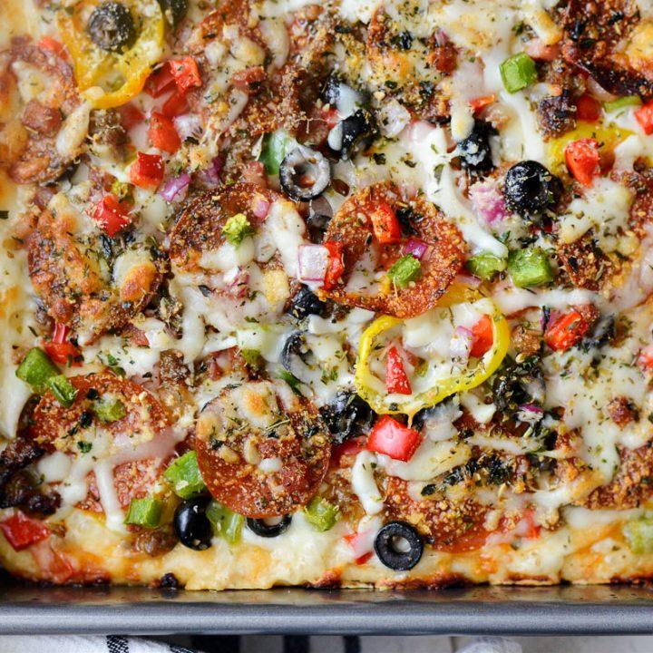 Supreme Focaccia Pizza