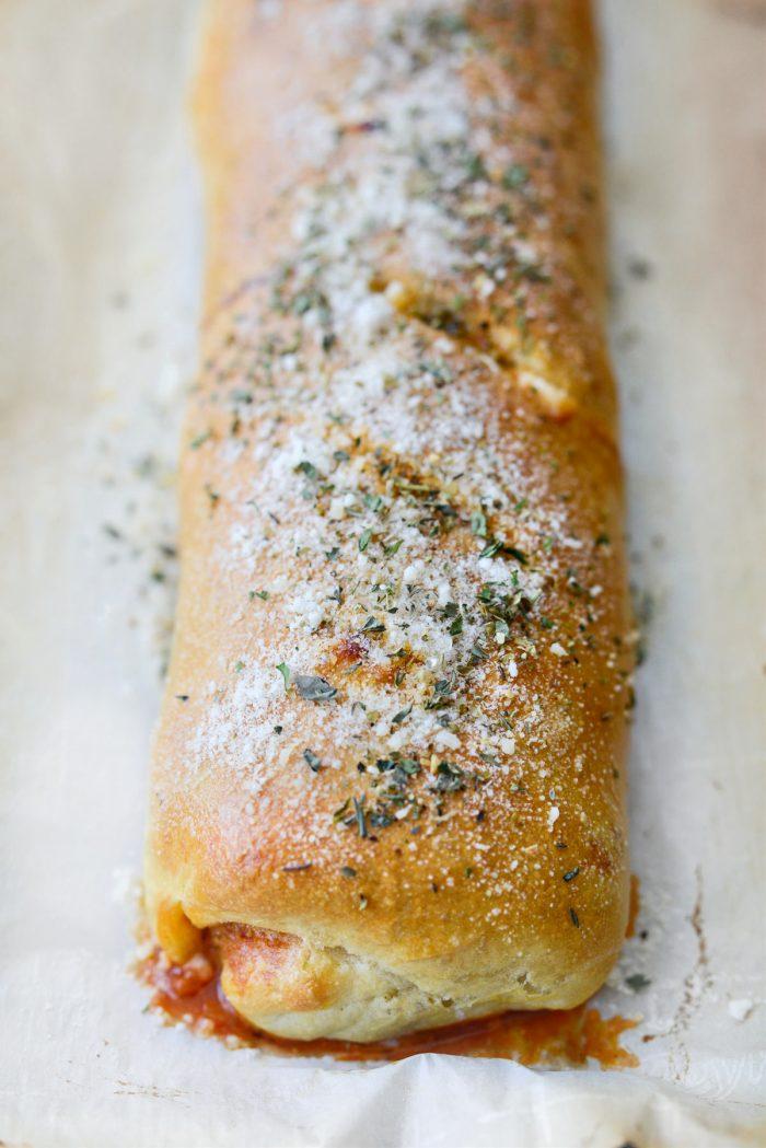 sprinkle with parmesan and italian seasoning