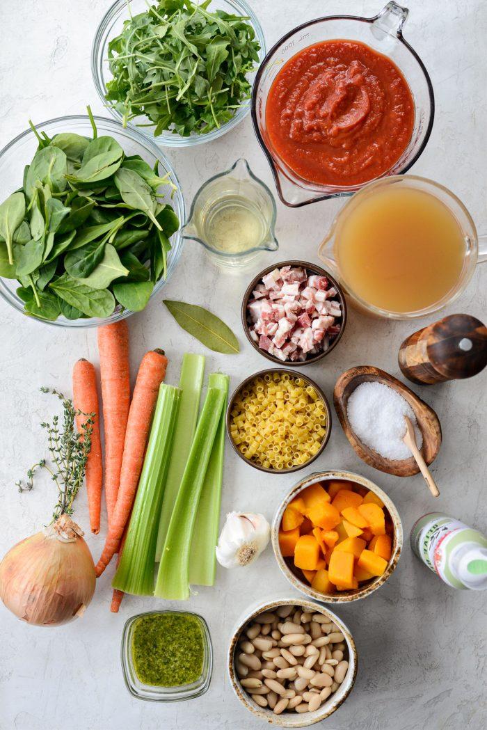 Ina Garten's Winter Minestrone ingredients