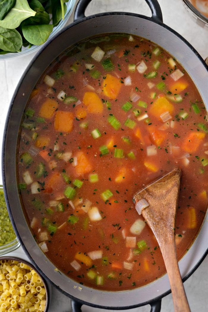 stir, bring to a boil and simmer for 30 minutes