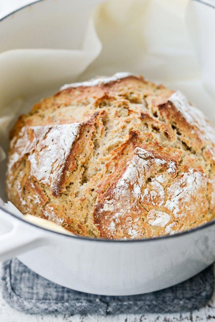 Irish Soda Bread in dutch oven