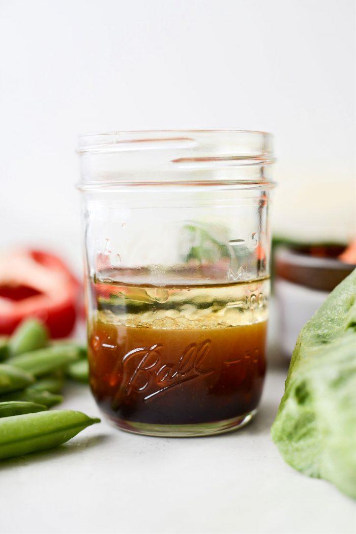 thai cabbage salad dressing in jar