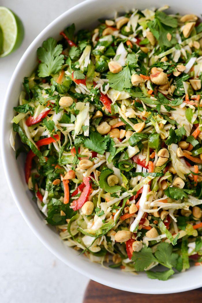 Thai Cabbage Salad close up