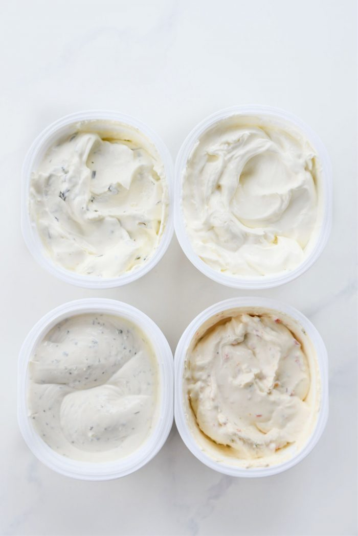 different cream cheese blends