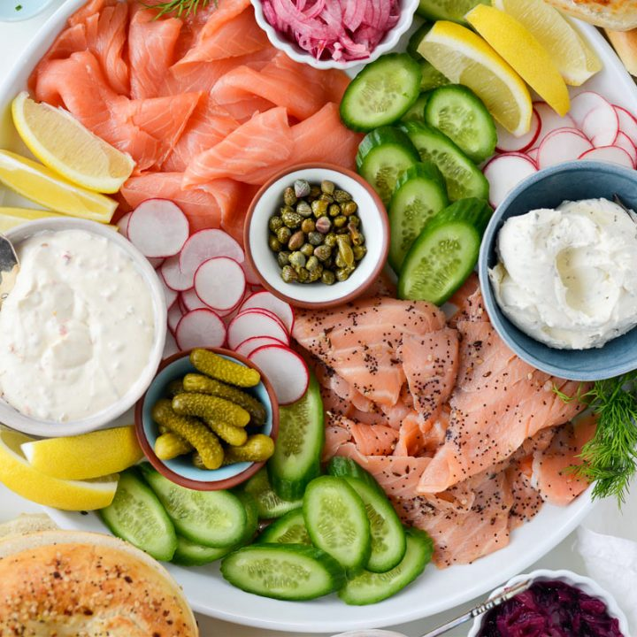 Bagel and Lox Brunch Spread
