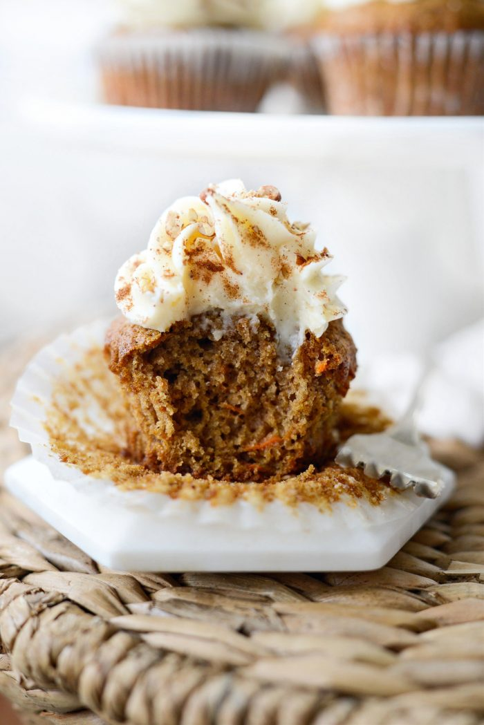 bite missing from Carrot Cake Cupcakes