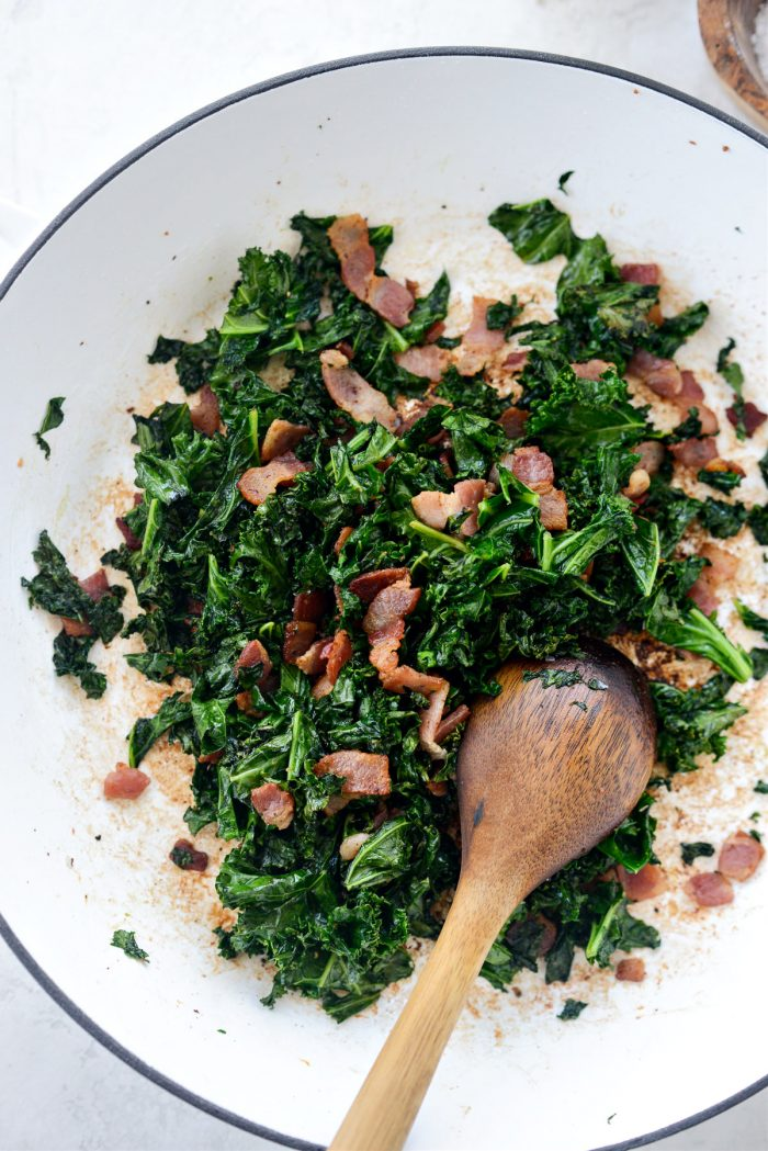 sauteed kale and bacon