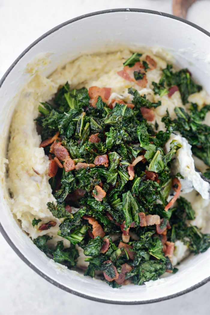 add kale and bacon