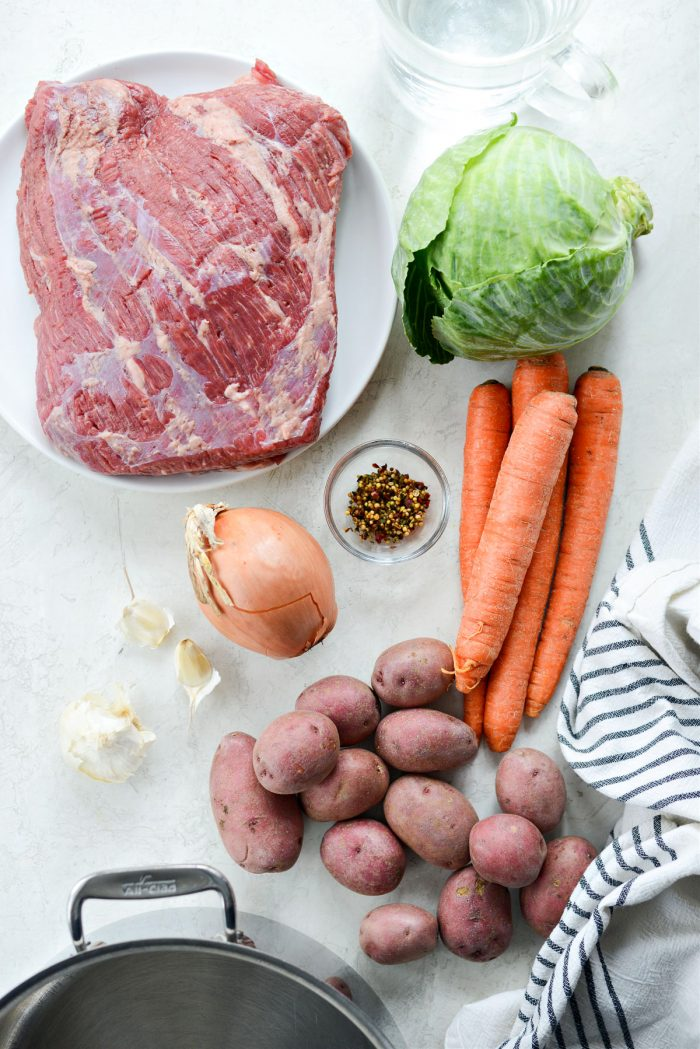 Corned Beef and Cabbage (Irish Boiled Dinner) ingredients