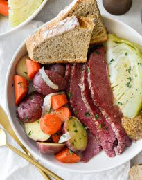 Corned Beef and Cabbage (Irish Boiled Dinner) horizontal