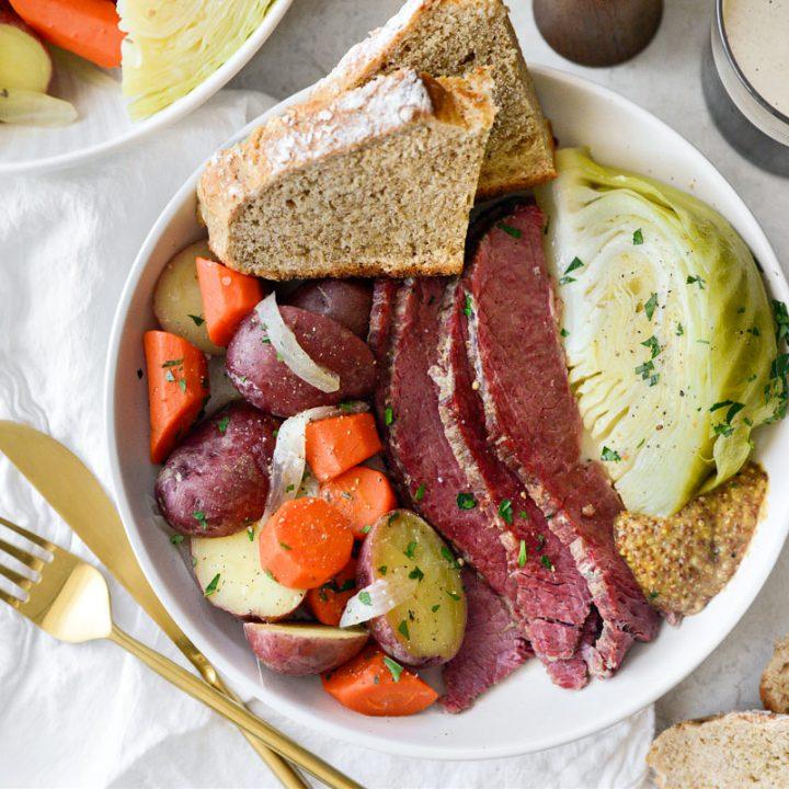 Corned Beef and Cabbage (Irish Boiled Dinner) horizontal