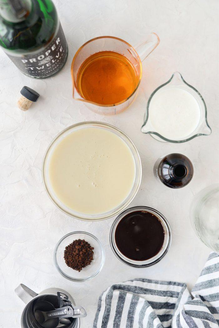 Homemade Baileys Irish Cream ingredients