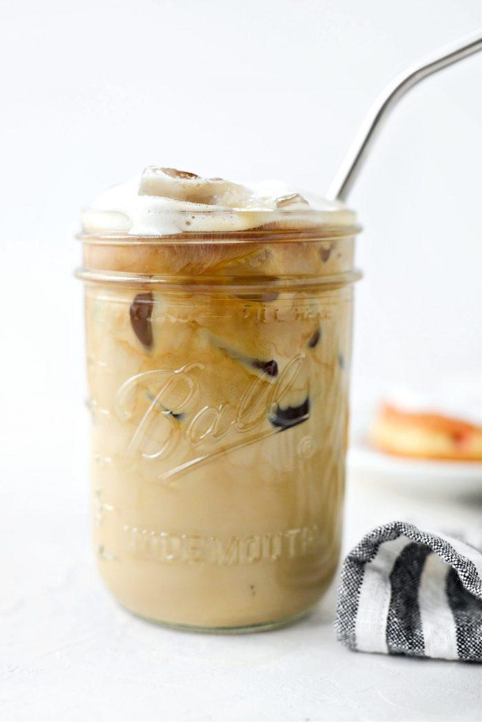 Homemade Baileys Irish Cream in iced latte