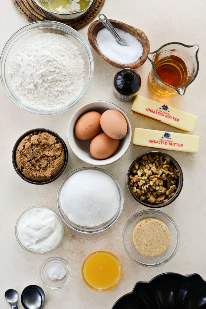 Irish Whiskey Cake ingredients