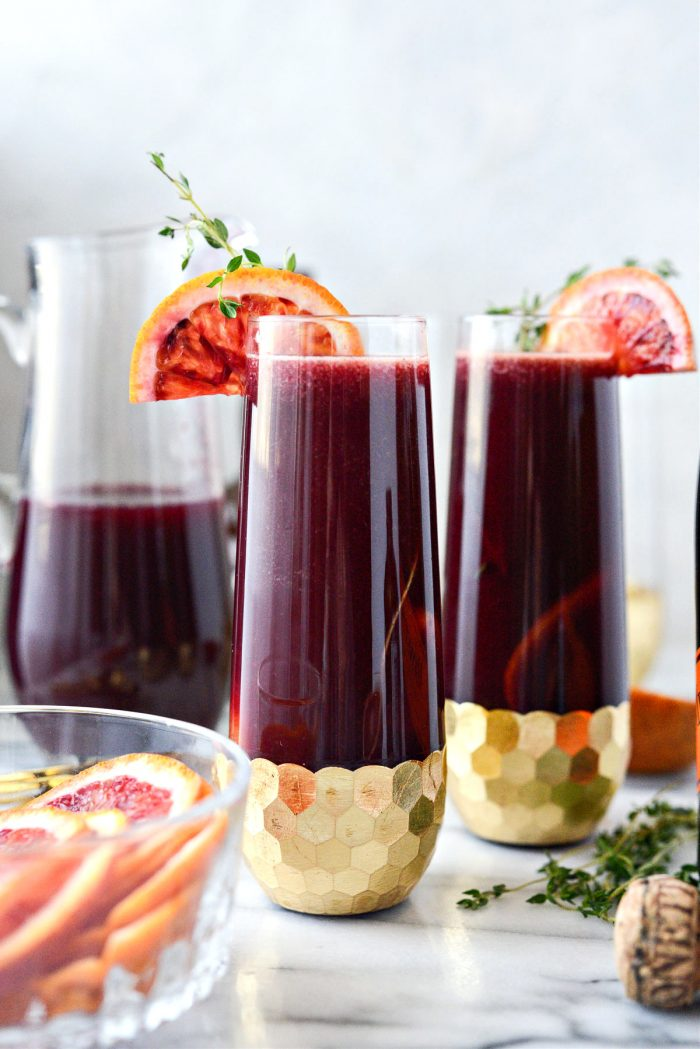 Vanilla Blood Orange Mimosas