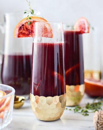 Vanilla Blood Orange Mimosas