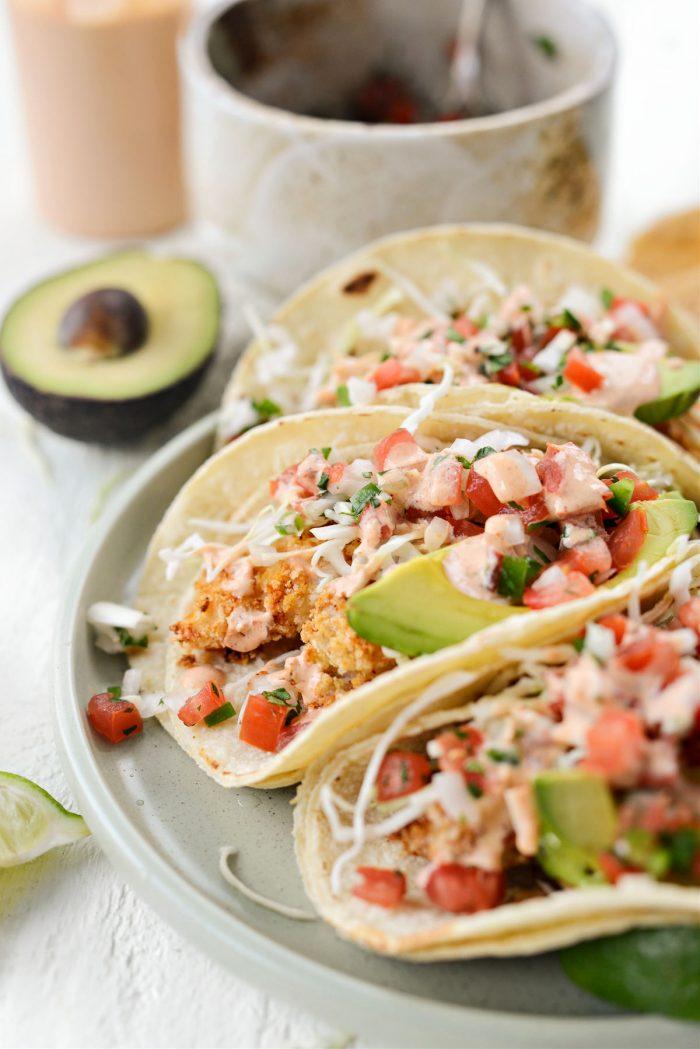 Air Fryer Baja Fish Tacos