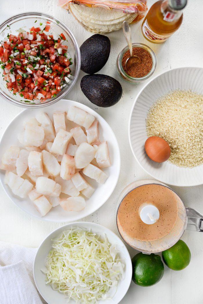 Air Fryer Baja Fish Tacos ingredients