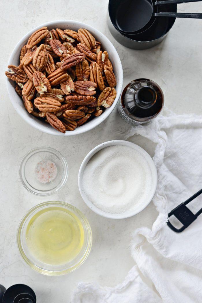 Candied Pecans ingredients