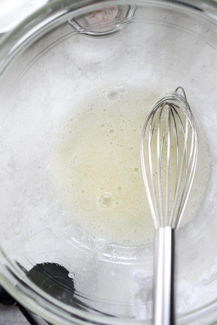 whisk egg whites until frothy