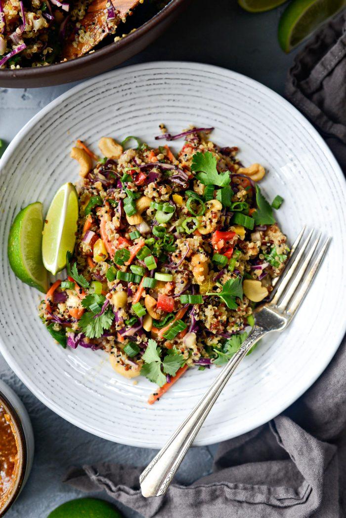 Crunchy Cashew Thai Quinoa Salad