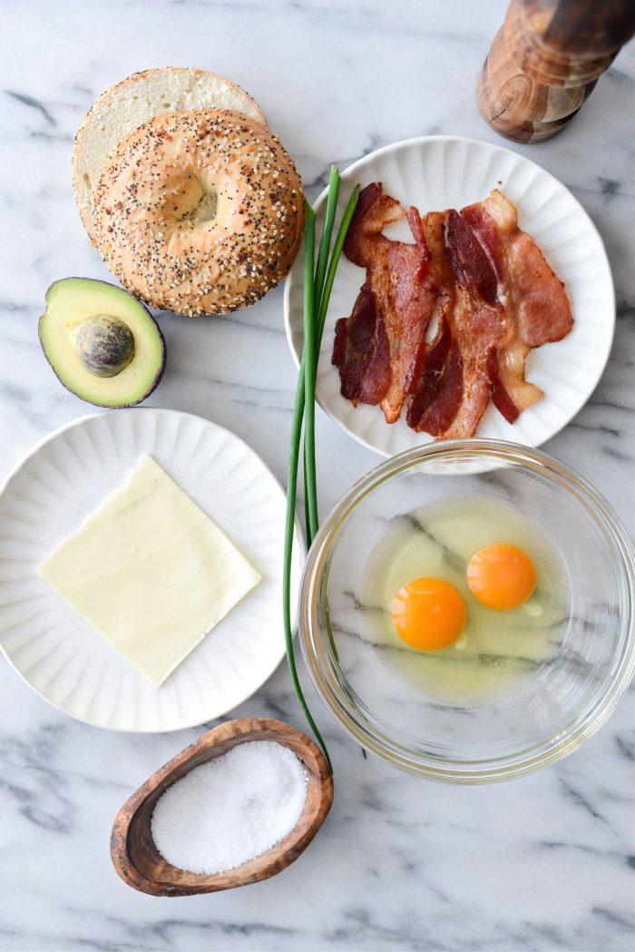 Everything Bagel Breakfast Sandwich ingredients