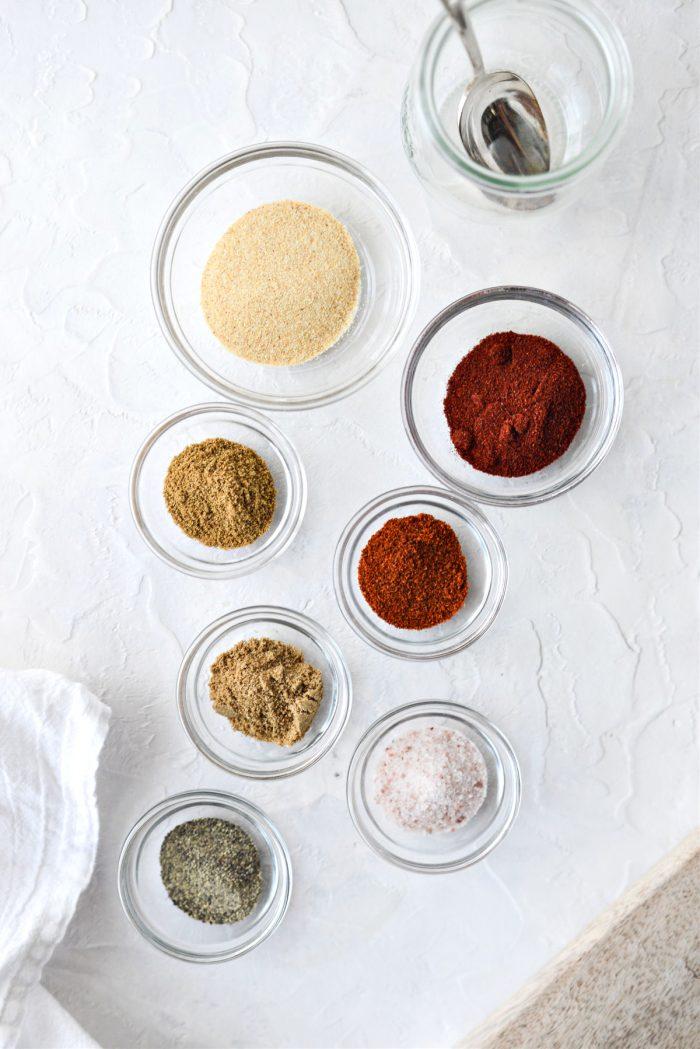 Homemade Baja Seasoning Blend ingredients
