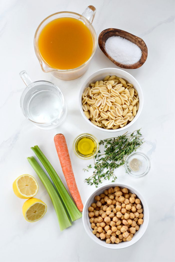 Lemon Chickpea Soup ingredients